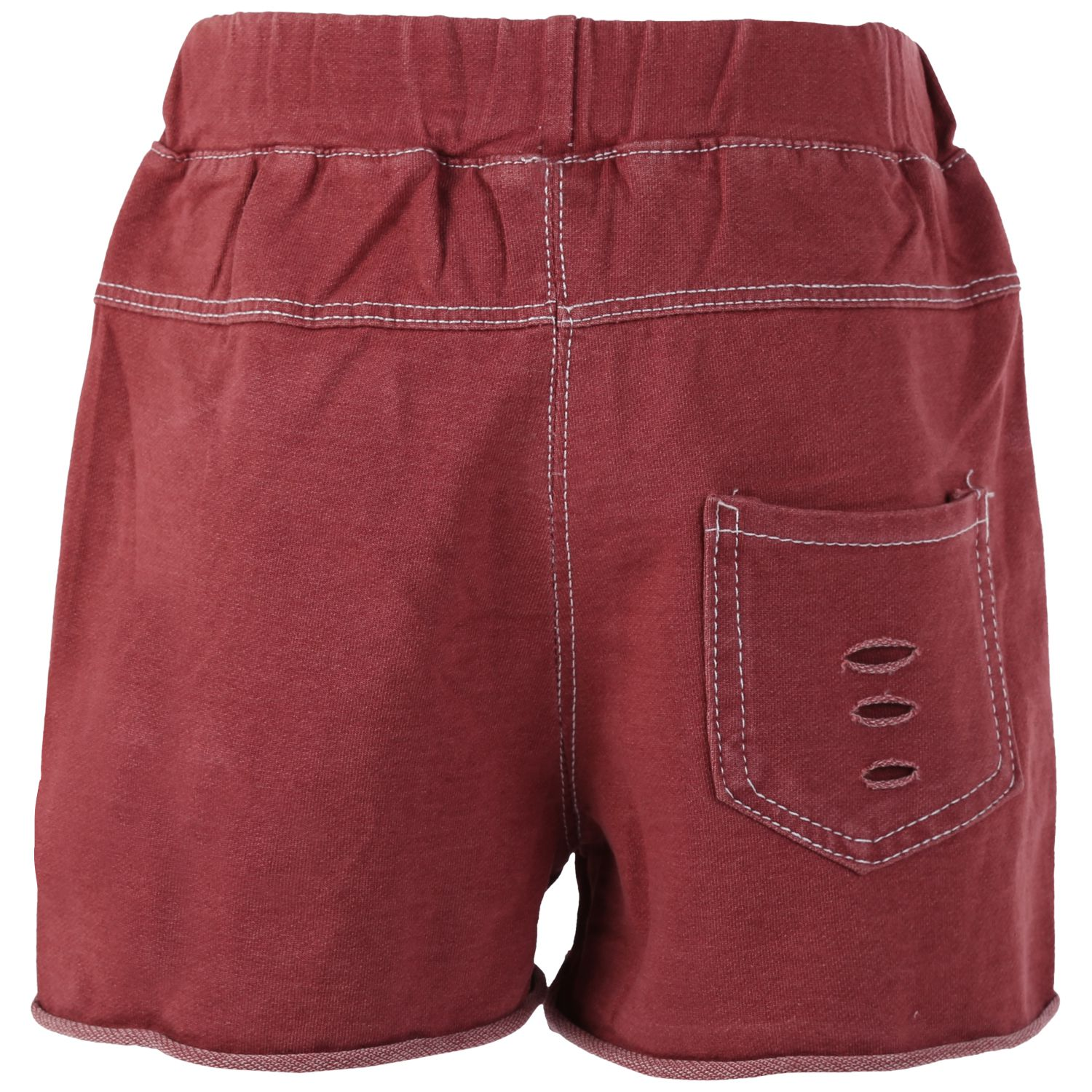 Blisara Girls Jeans Style Pattern Maroon Short Pant (Size Suitable for 5 to 6 years)