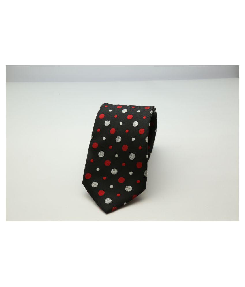 TIENETIC Black Dots Micro Fiber Necktie