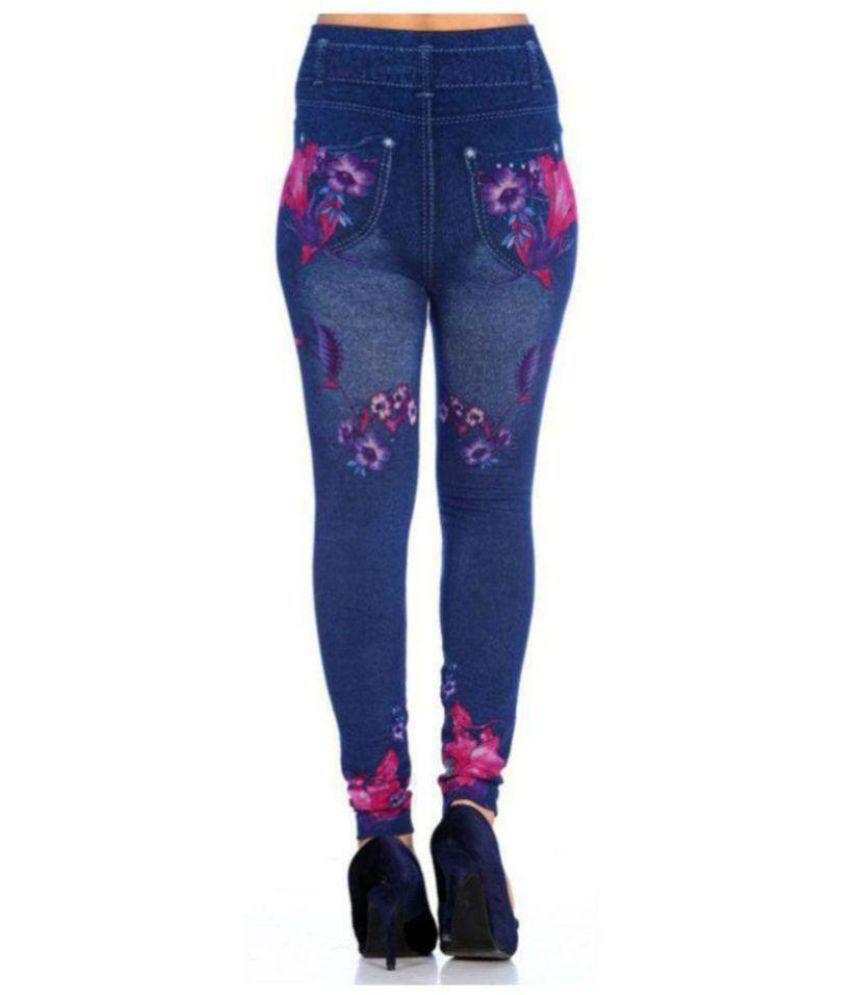230ff5e30f2 Buy Trusha Dresses Denim Lycra Jeggings - Blue Online at Best Prices ...