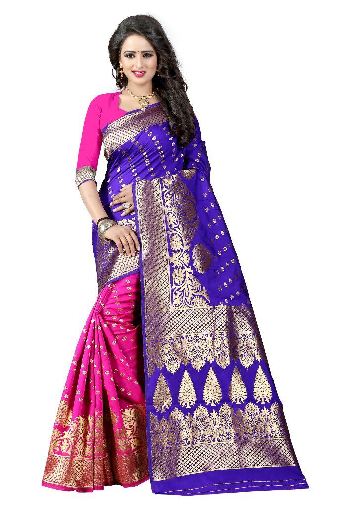 Antique Store Blue Banarasi Silk Saree