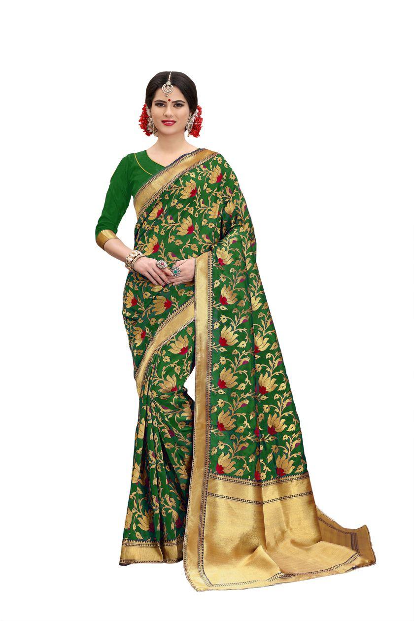 Antique Store Green Banarasi Silk Saree