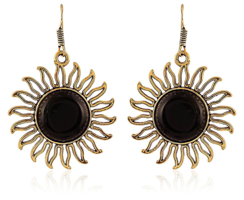 Fashion For Sure Designer Gold Brass Dangle & Drop Earrings for Women (E353)