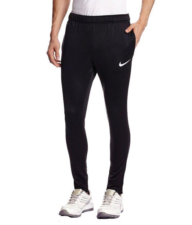 Nike Black/Blue Polyester Track Pant for Boy