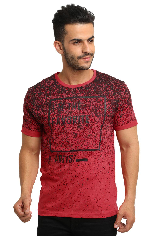 Yo Republic Maroon Round T-Shirt Pack of 1