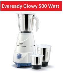 Eveready Glowy 3 Jar 500 Watt Mixer Grinder
