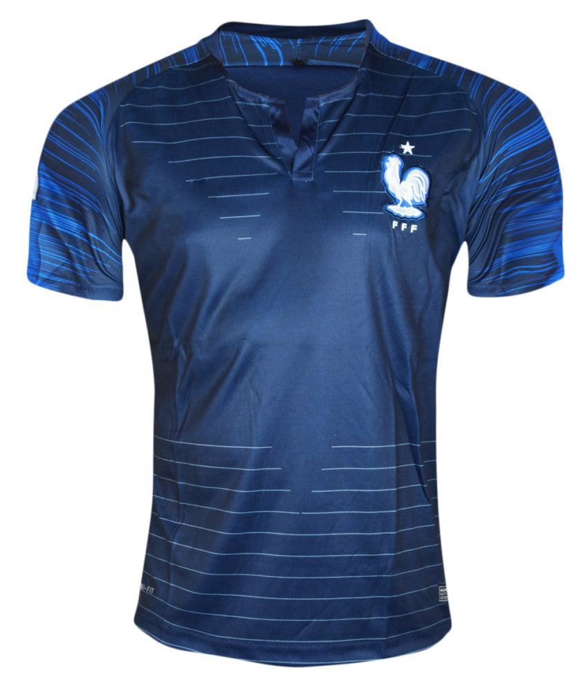 France Navy Polyester Jersey