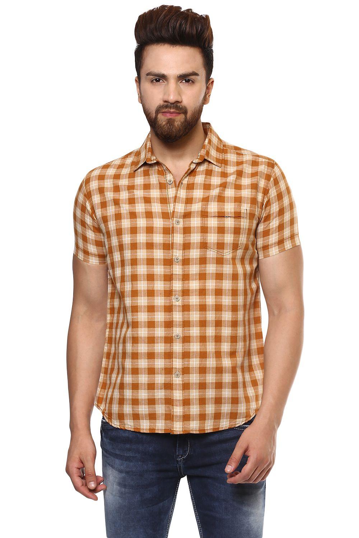 Pepe Jeans Beige Slim Fit Shirt Single
