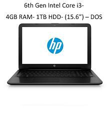 HP 15q-bu003tu Laptop (6th Gen Intel Core i3- 4GB RAM- 1TB HDD- 39.62cm(15.6)- DOS- Intel® HD Graphics 620) (Black)