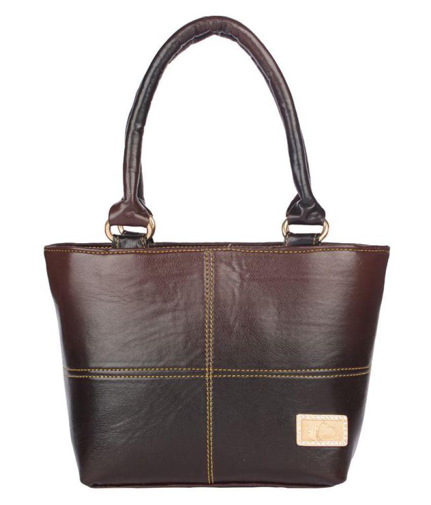 Aliado Brown Faux Leather Shoulder Bag