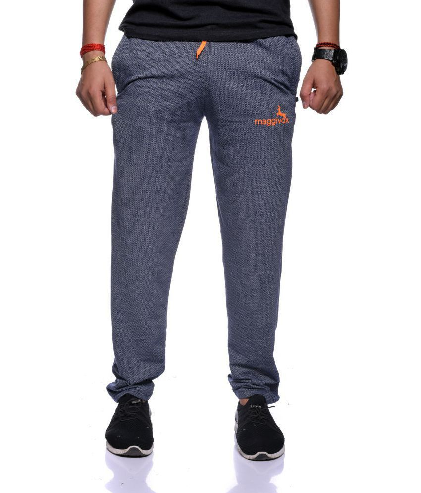 Maggivox Navy Cotton Blend Trackpants