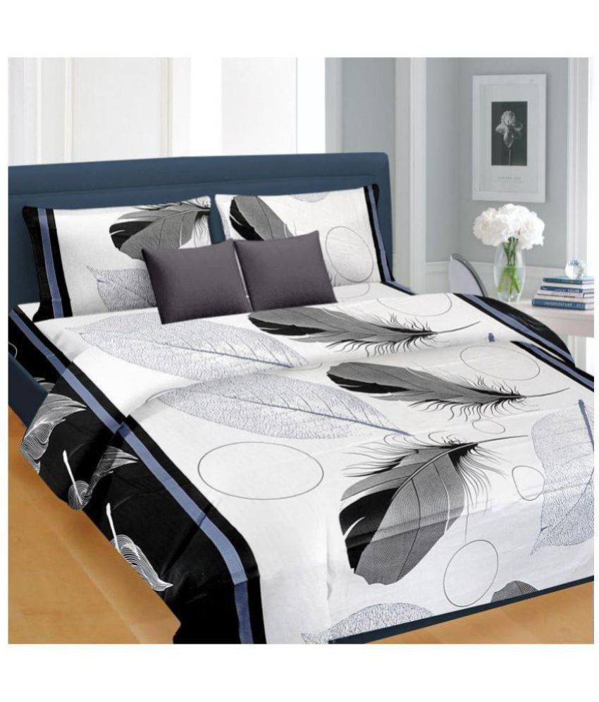 nice cotton cotton double bedsheet with 2 pillow covers buy nice rh snapdeal com