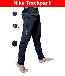 Nike Black Polyester Lycra Gymwear Trackpants 5a0a08ed93