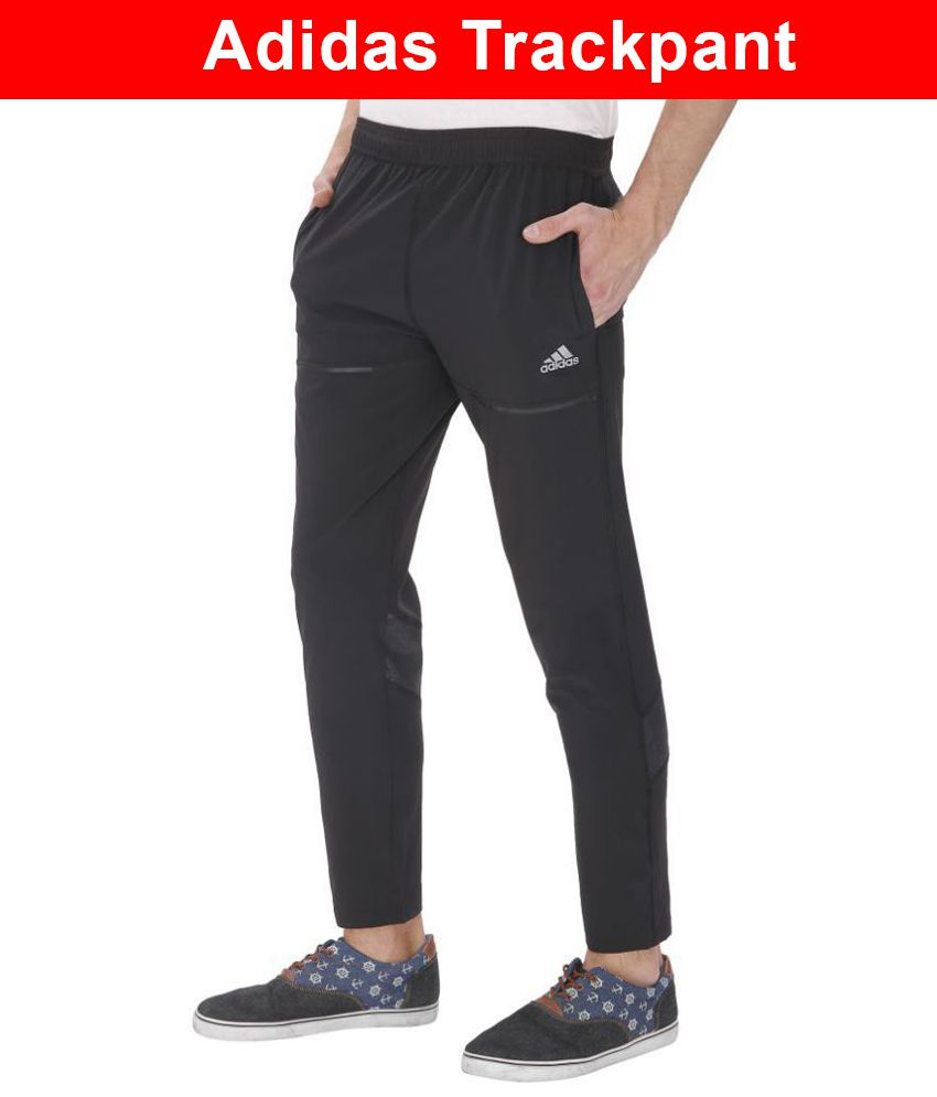 9700488829fc Adidas Black Polyester Sports Gymwear Trackpants For Men: Buy Online at  Best Price on Snapdeal