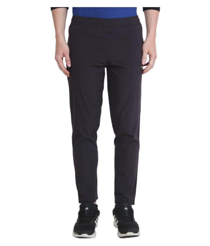 Nike Black/Blue Polyester Lycra Track Pant for Boy