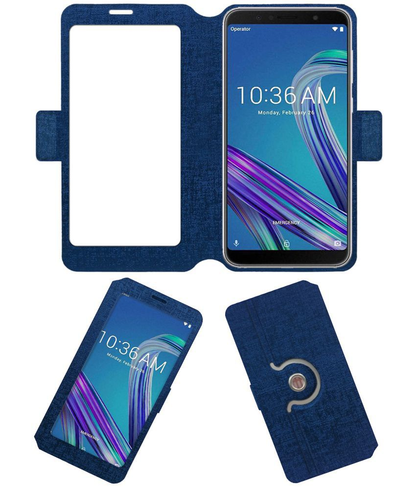 finest selection 91750 3838d ASUS ZENFONE MAX PRO M1 ZB601KL Flip Cover by ACM - Blue NA
