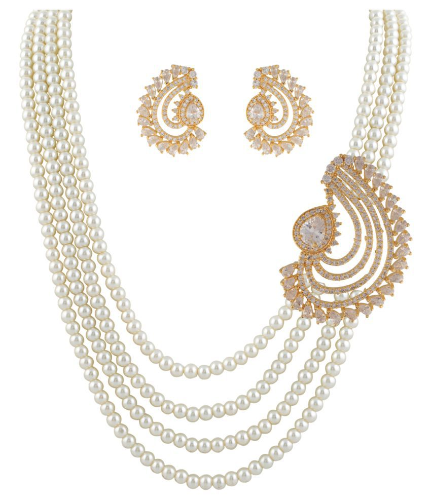 ClassiqueDesigner Cross Shape Pearl Set (cp1326)