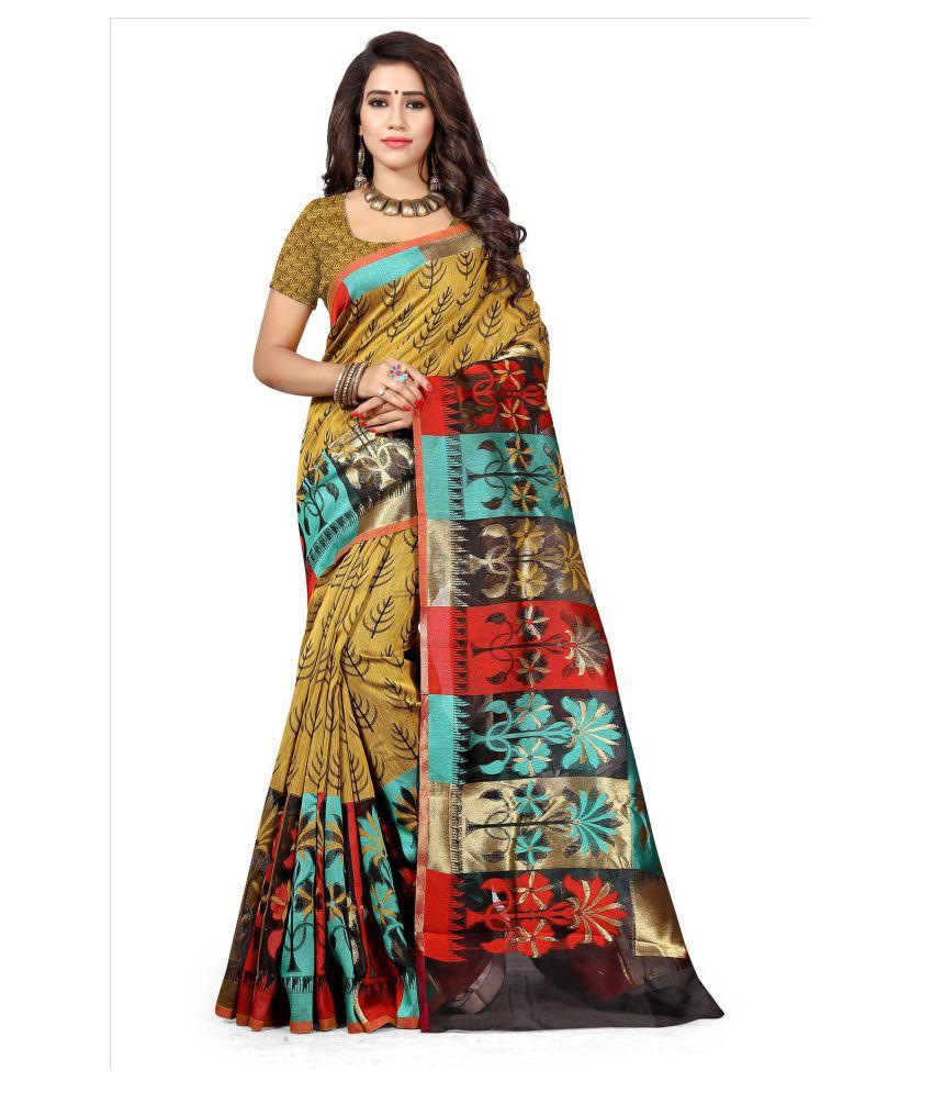 Urban India Multicoloured Banarasi Silk Saree