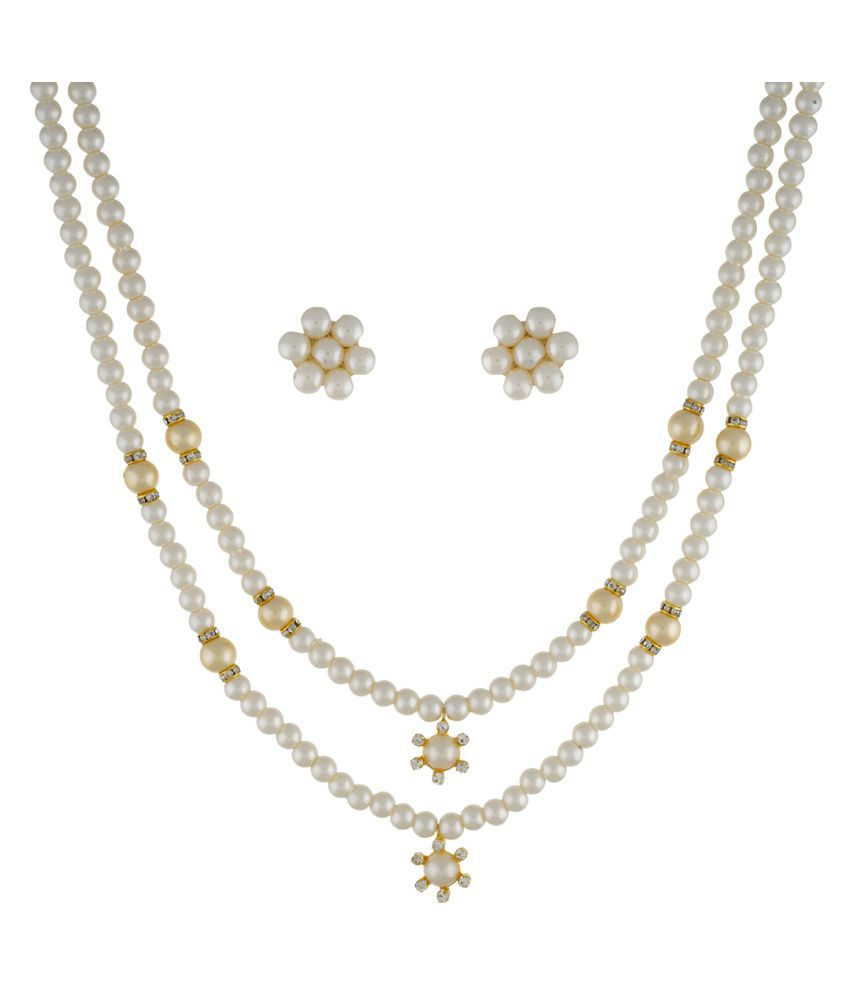 ClassiqueDesigner Jewellery Two Layer Pearl Set