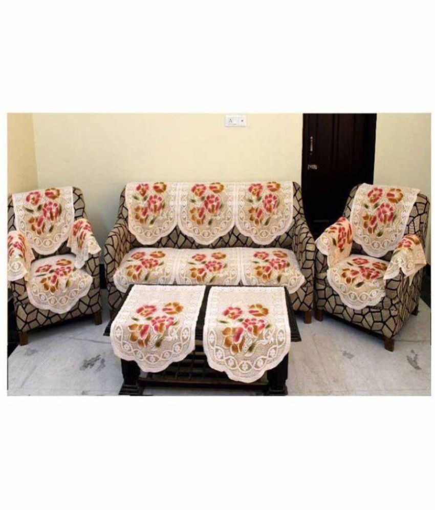 Swell Creative Hub 5 Seater Poly Cotton Set Of 12 Sofa Cover Set Pabps2019 Chair Design Images Pabps2019Com