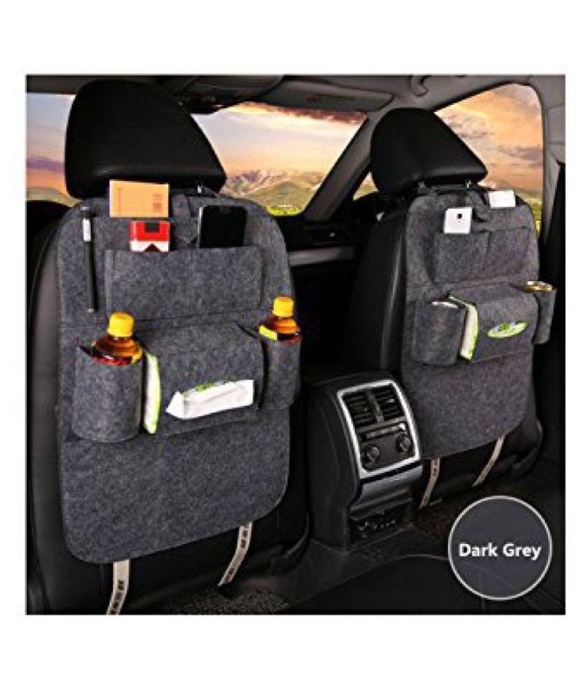Gaze Me Multi Pocket Organizer for Front Seat Side Grey