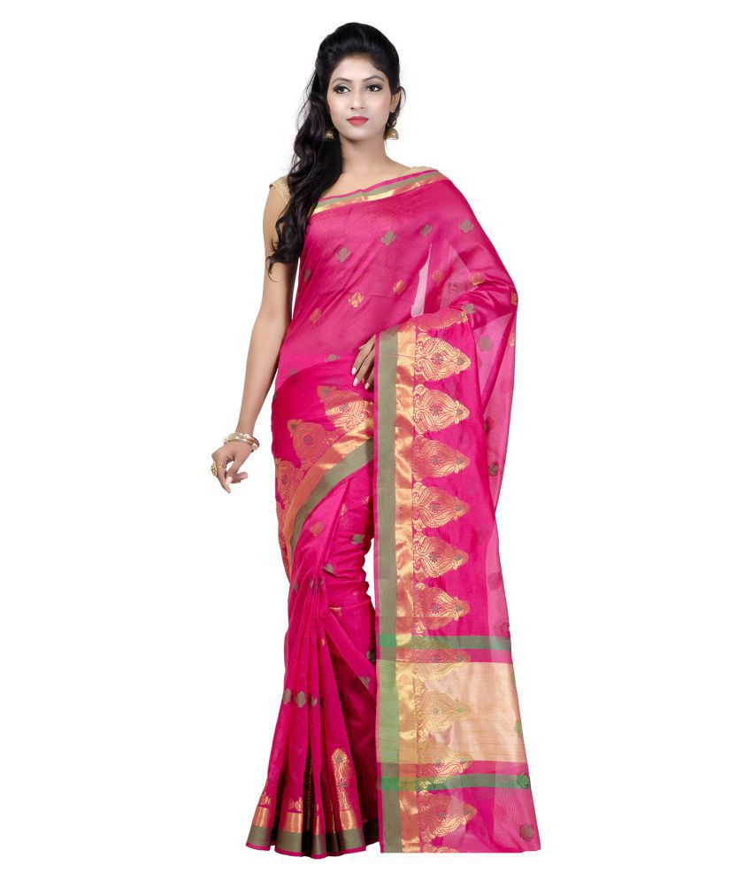 Chandrakala Pink Art Silk Saree