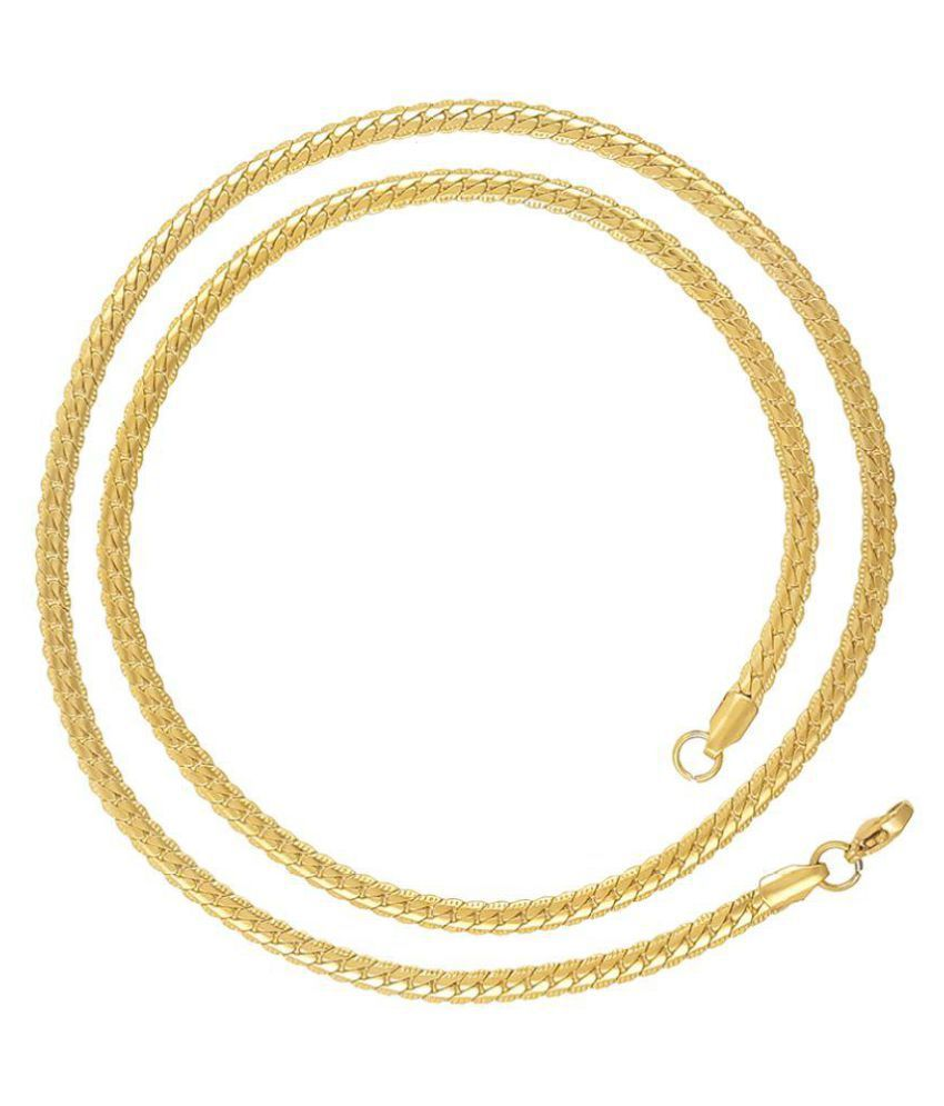 Saizen CH221 Classic Gold Tone Chain with Smooth Finish For Men, Boyfriend & Husband
