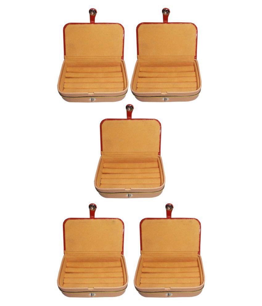 Set of 5 velvet Earring folder Ring box jewelery case ring storage ear ring travelling folder
