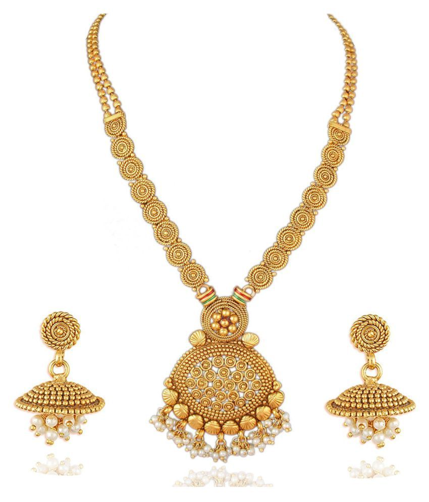 dc3d87bd5cc ... Jewellery Set For Women - Buy Apara Jalebi Design Gold Plated Pendant  Artificial Jewellery Set For Women Online at Best Prices in India on  Snapdeal