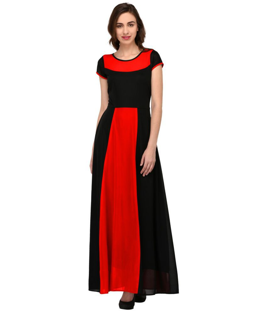 Blue Blaze Polyester Red Gown