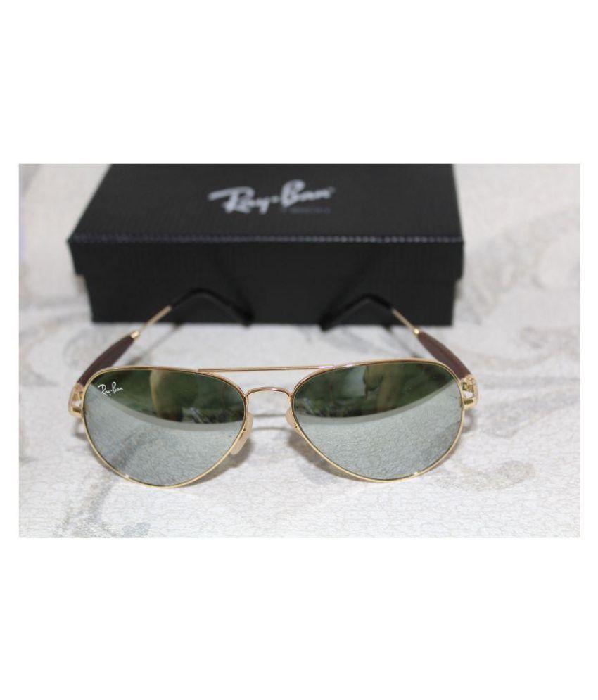 Ray Ban Sunglasses Golden Aviator Sunglasses ( RB 3517 )