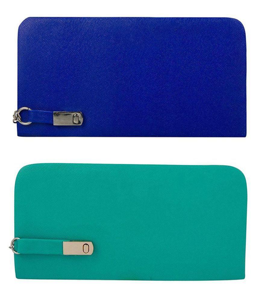 CHHAVI INDIA Blue Faux Leather Combos