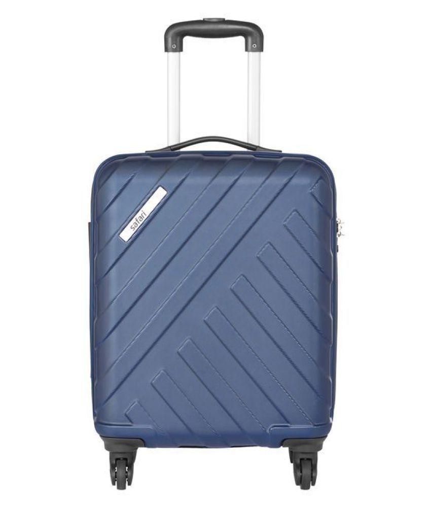 Safari Navy Blue S (Below 60cm) Cabin Hard Trolley Luggage HARBOUR554WMBL
