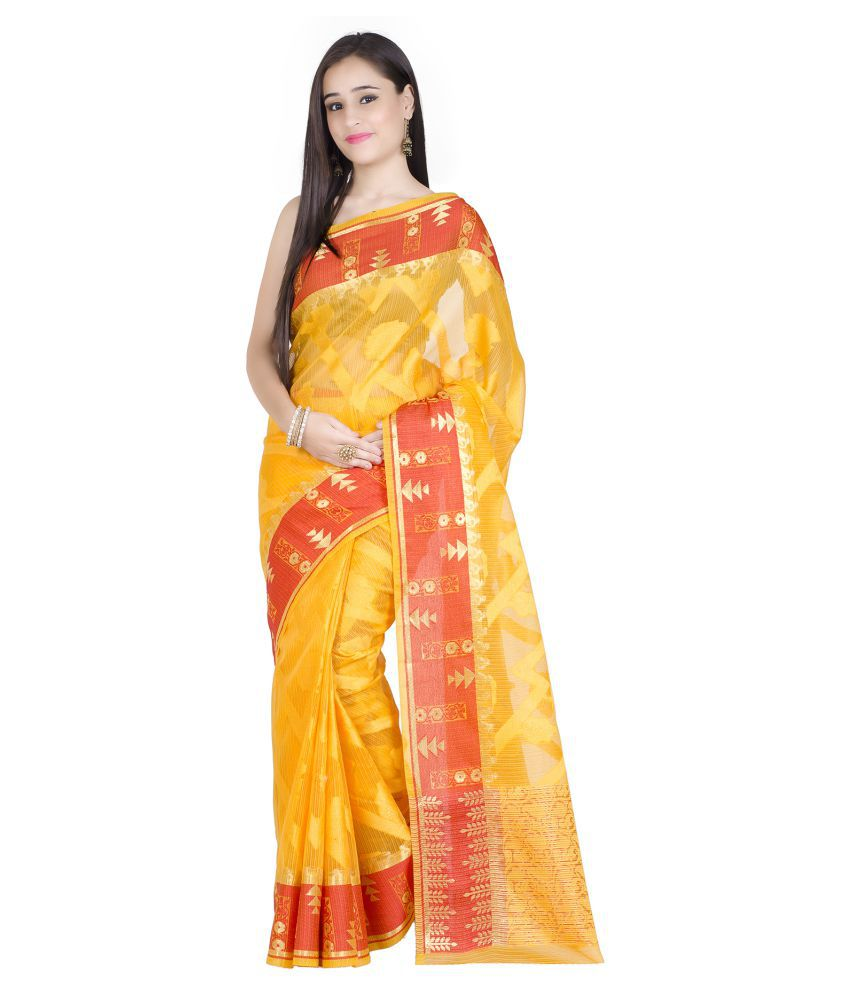 Chandrakala Gold Cotton Silk Saree