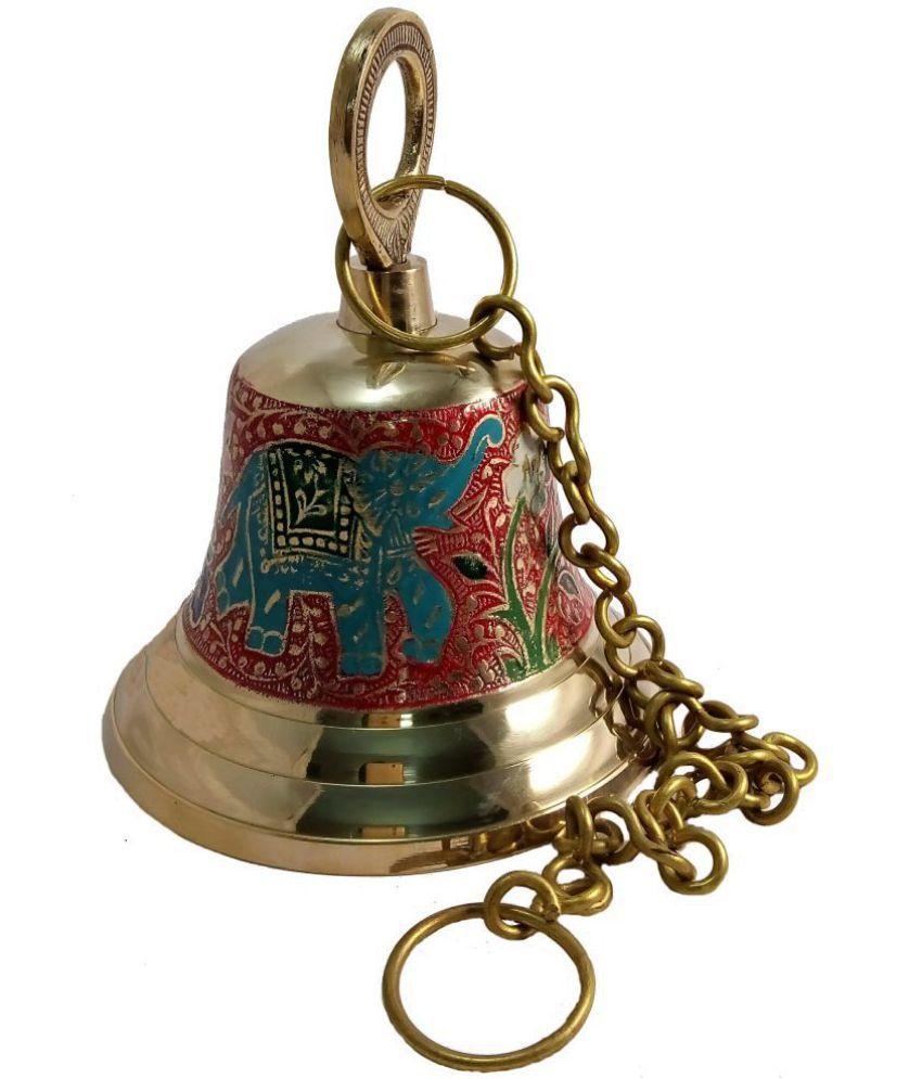 MOZO HUB Brass Red Hanging Bell 17 CM