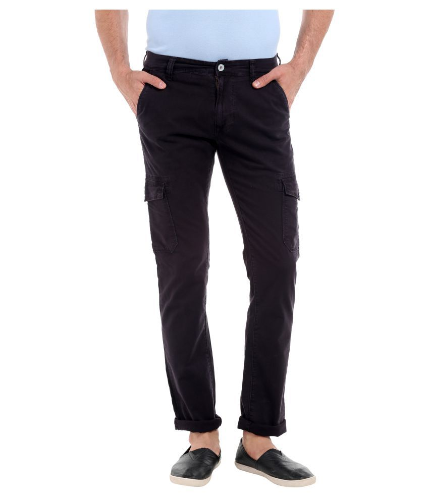 LAWMAN PG3 Black Slim -Fit Flat Cargos