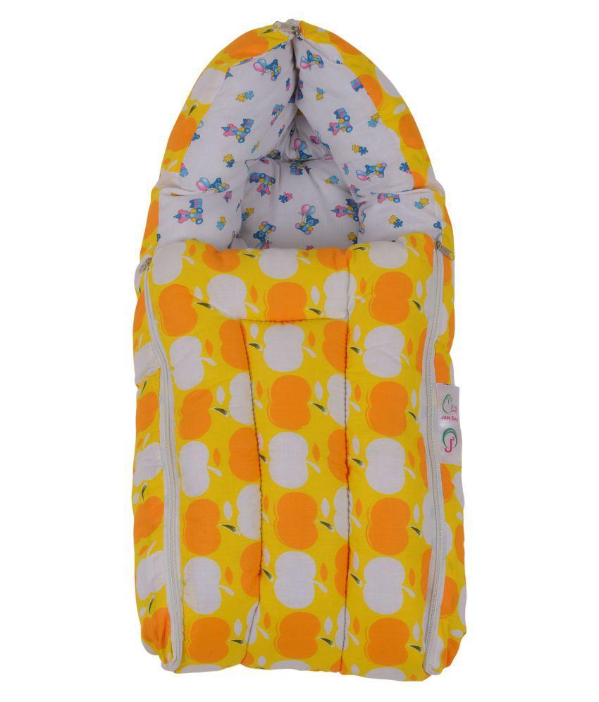 Jaze Baby Yellow Cotton Sleeping Bags ( 66 cm × 35 cm)