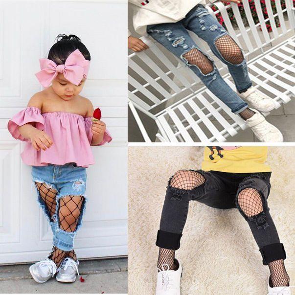 Kids Baby Girl Fishnet Bodystockings Black Pantyhose Tights Stockings Pantyhose