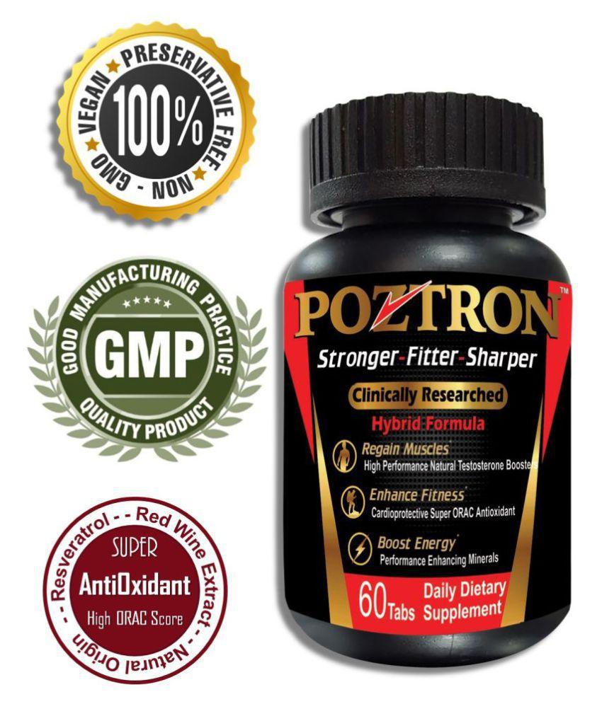 POZTRON Testosterone Stamina Booster Men Multivitamin Tab 700 mg Unfalvoured Multivitamins