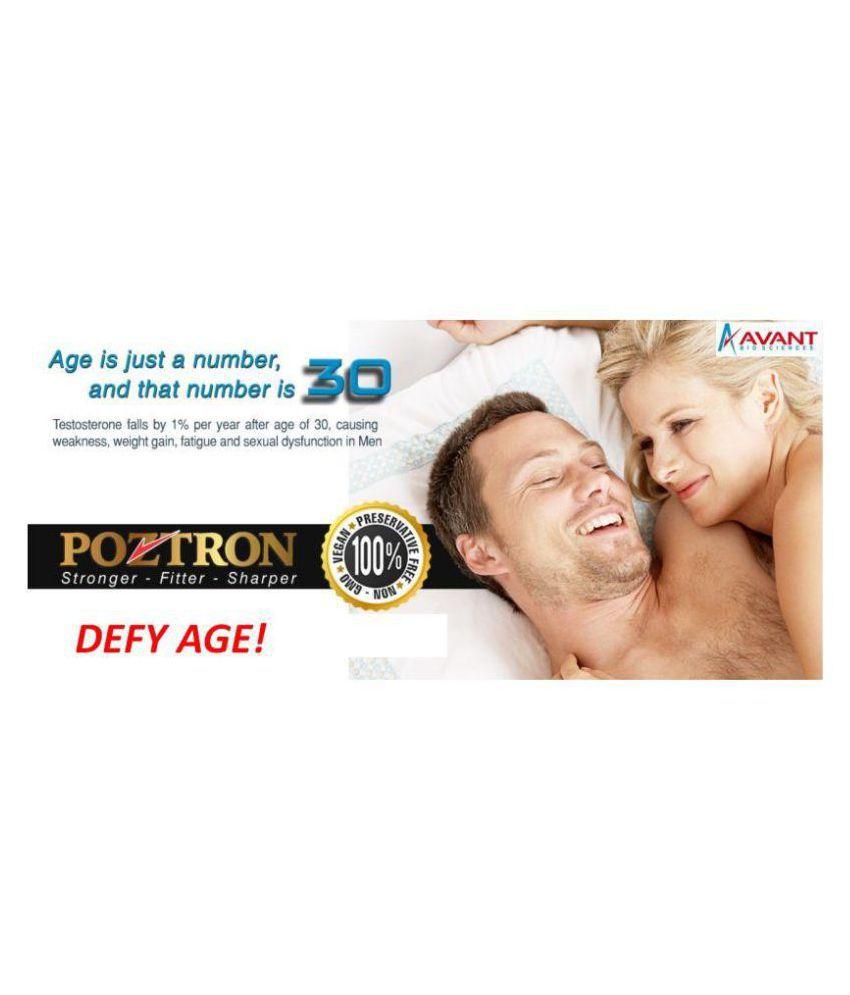 POZTRON Testosterone Stamina Booster Men Multivitamin Tab 60 no.s Unfalvoured Multivitamins