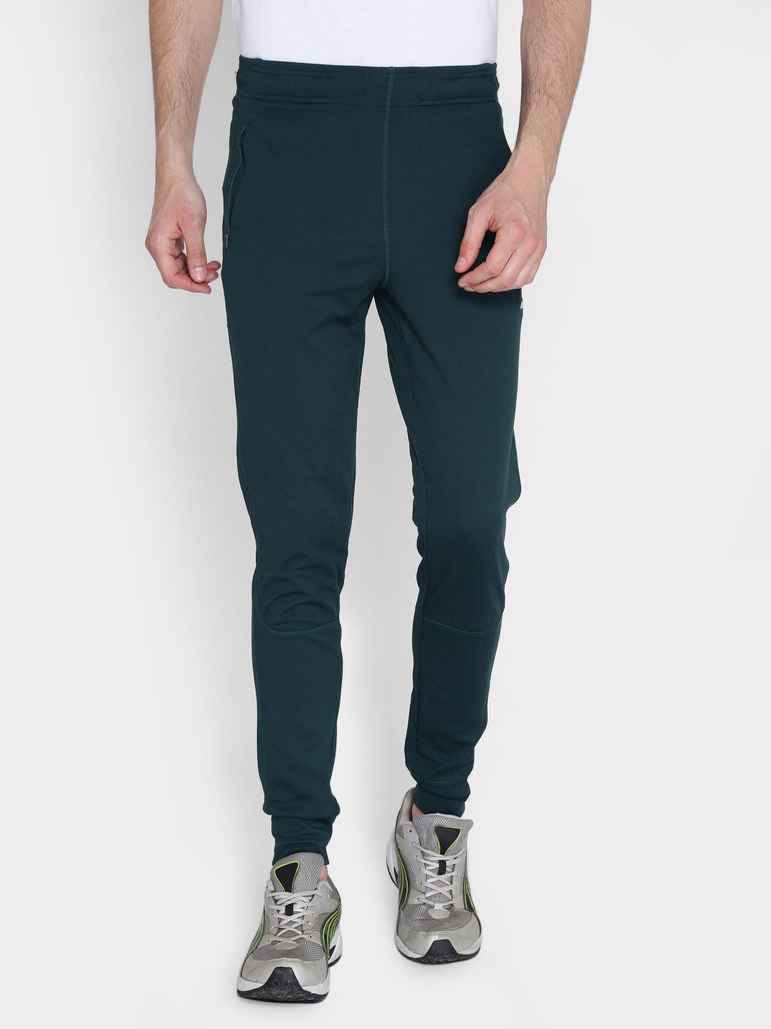 Alcis Mens Solid Dark Green Jogger