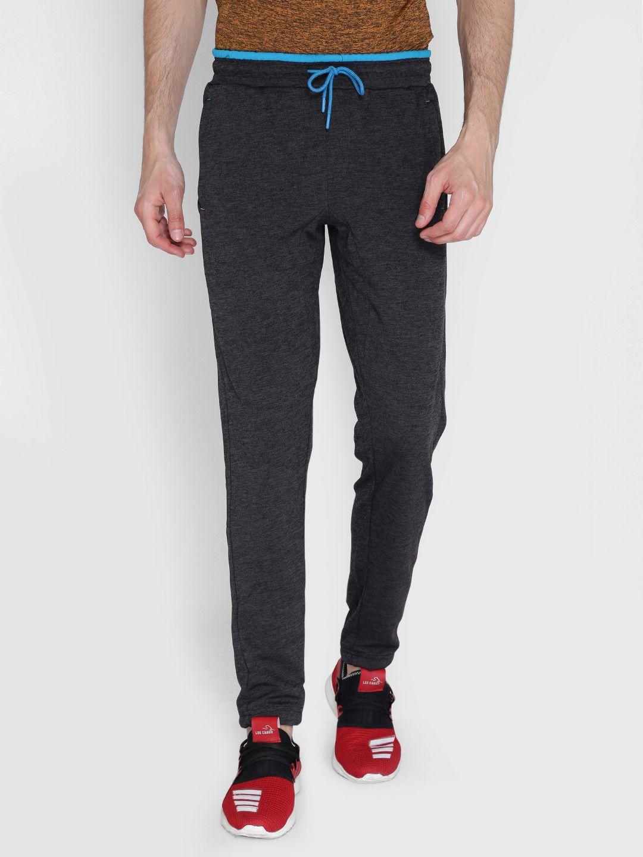 Alcis Mens Solid Dark Grey Trackpant