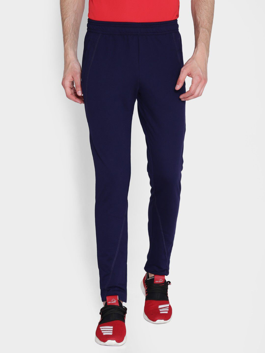 Alcis Mens Solid Navy Blue Trackpant