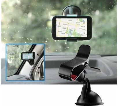 Car Mobile Holder for Dashboard and Windshield With 360 Rotation ...