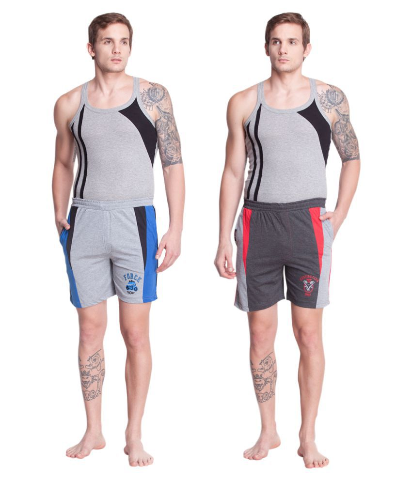 Force Go Wear Grey Shorts Pack of 2
