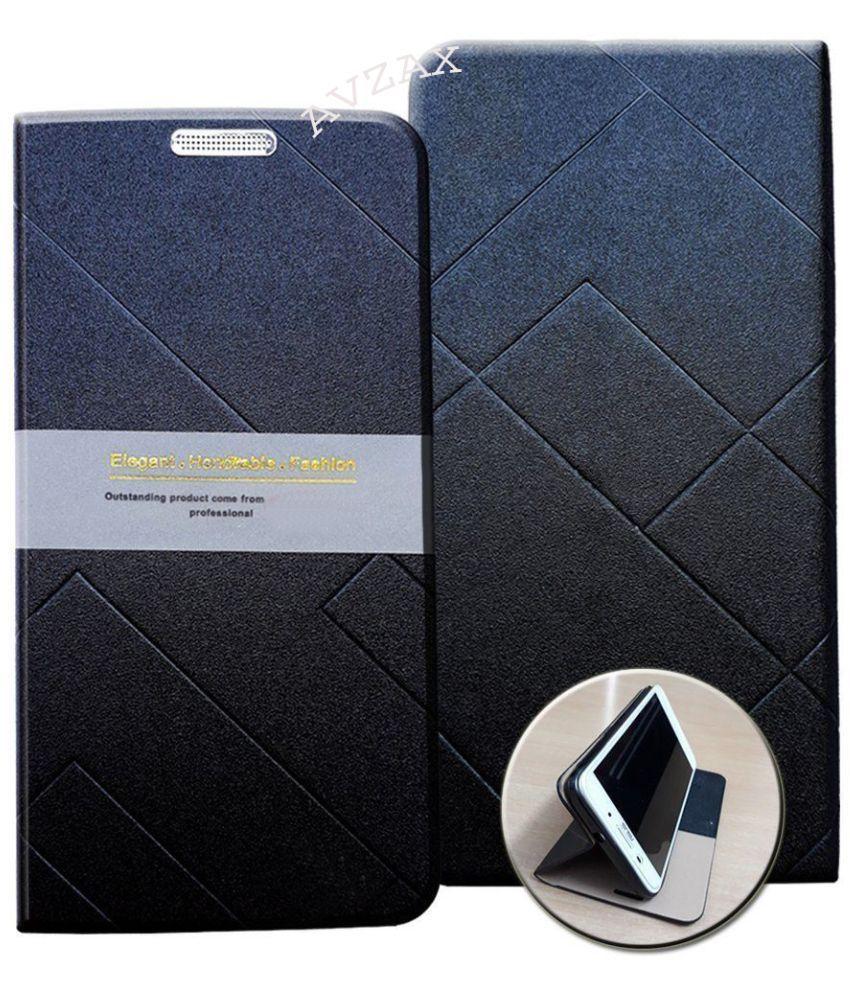 Moto Z2 Play Flip Cover by Avzax - Black