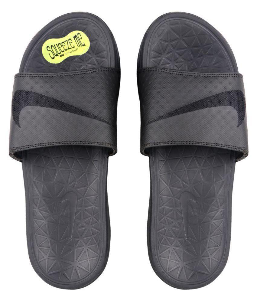 5d71a099167 Nike solarsoft Black Slide Flip flop Price in India- Buy Nike solarsoft  Black Slide Flip flop Online at Snapdeal