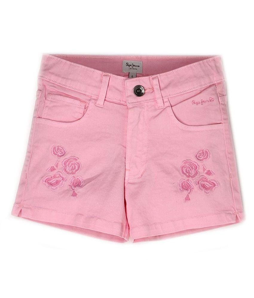 Pepe Jeans Girls Cotton  Regular Casual White Short