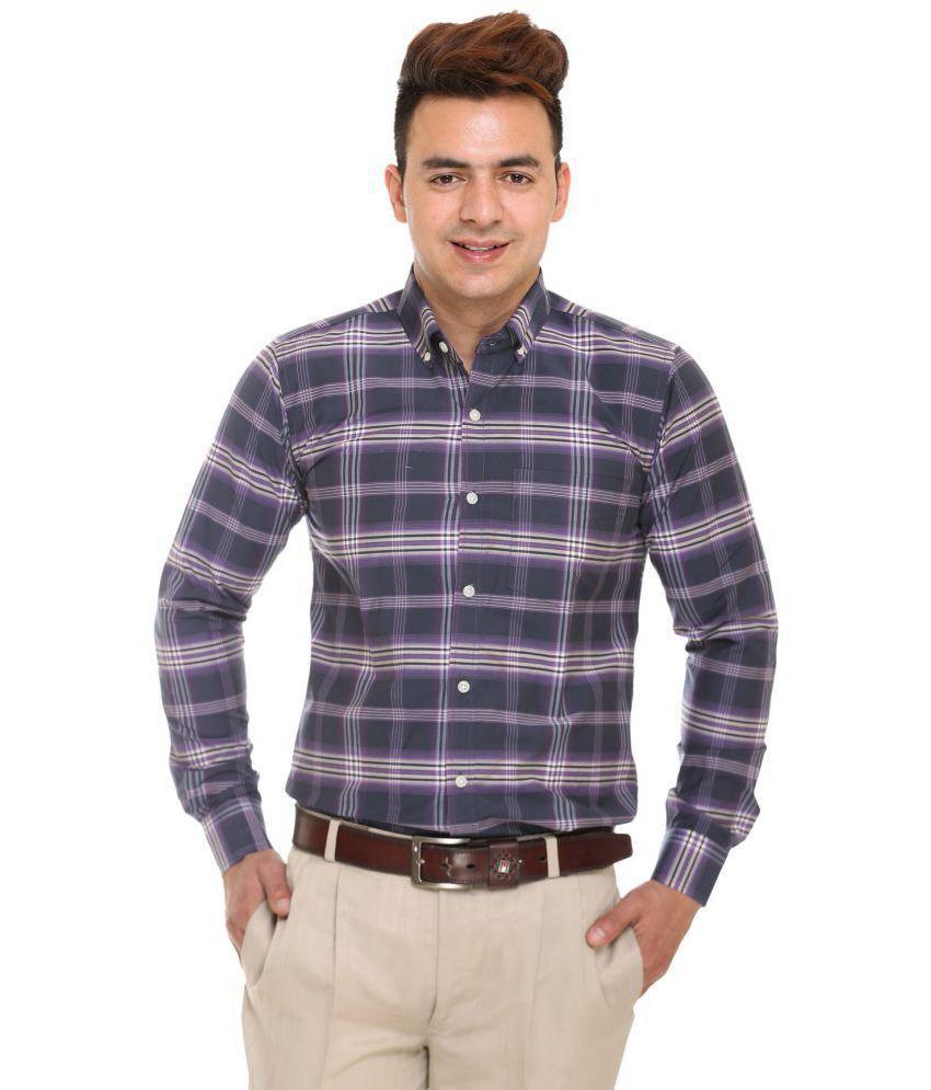 Plush Navy Regular Fit Shirt