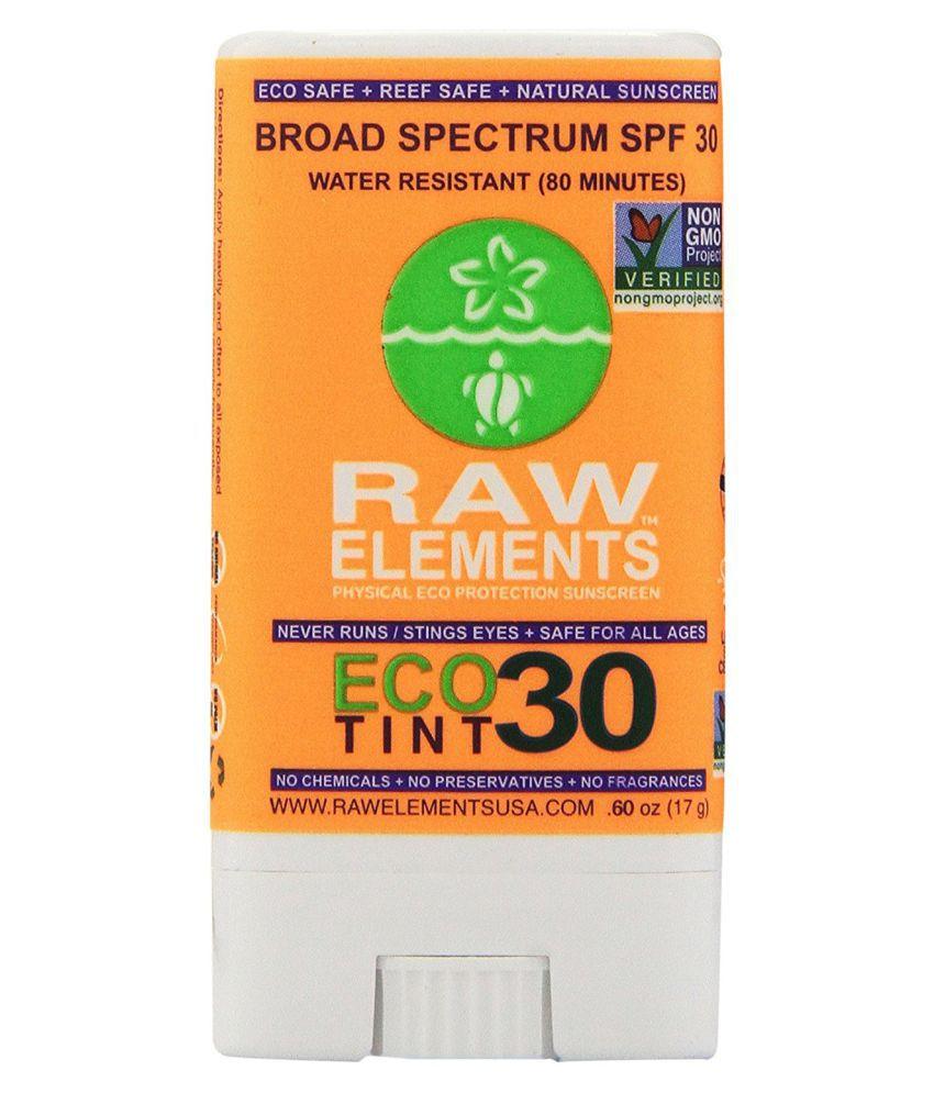 Raw Elements Sunscreen Eco Tint Stick 30,  60 oz: Buy Raw
