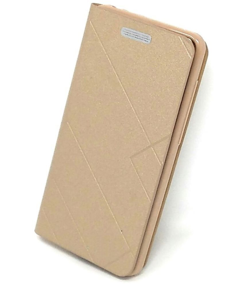 Samsung Galaxy J7 Prime 2 Flip Cover by Avzax - Golden